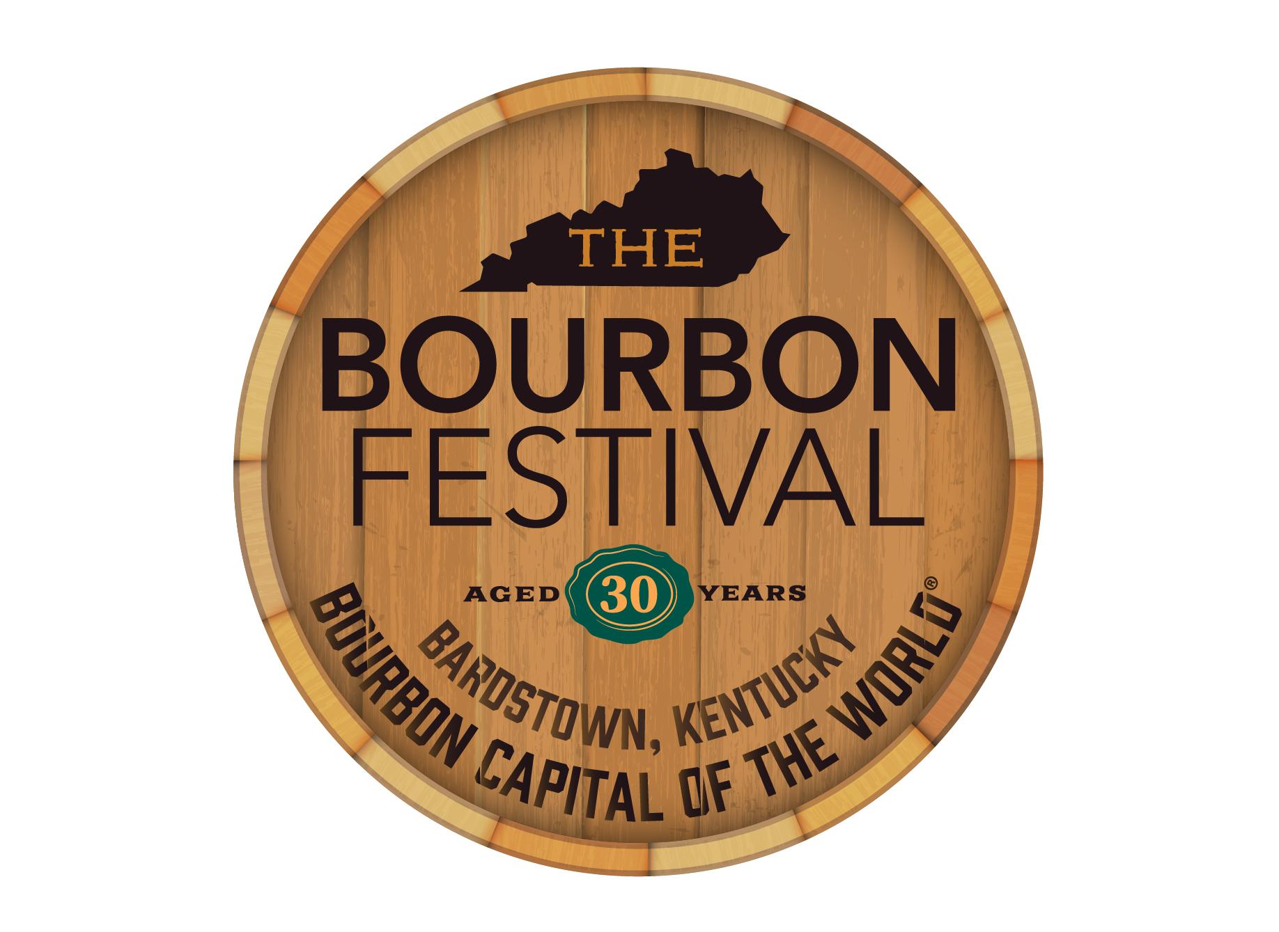 Bourbon Barrel top with KBF logo printed on top