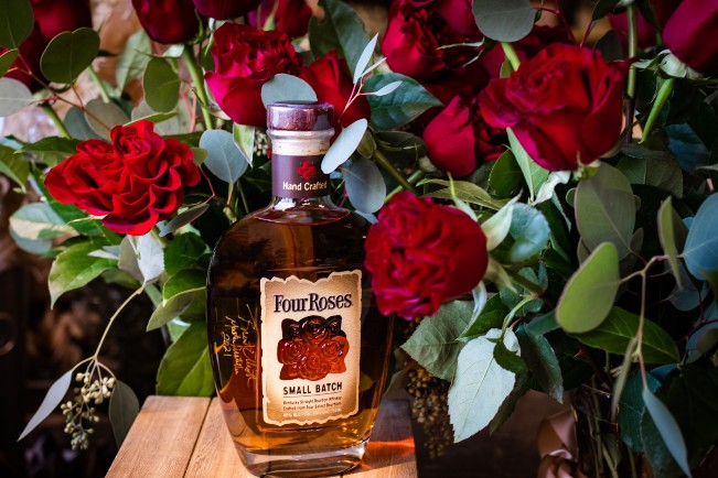 Four Roses Bourbon and Roses