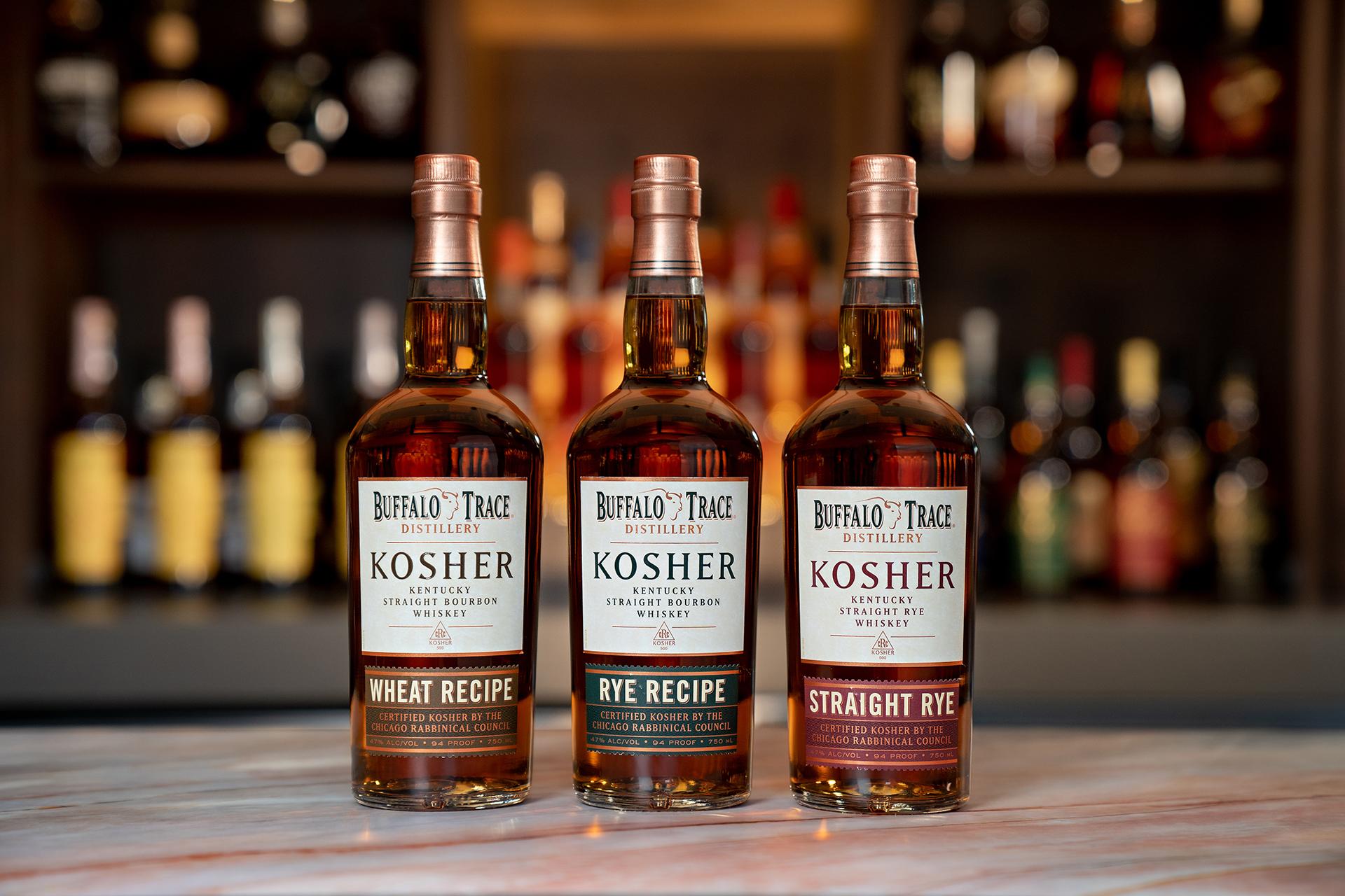 Buffalo Trace Kosher Whiskey Trio