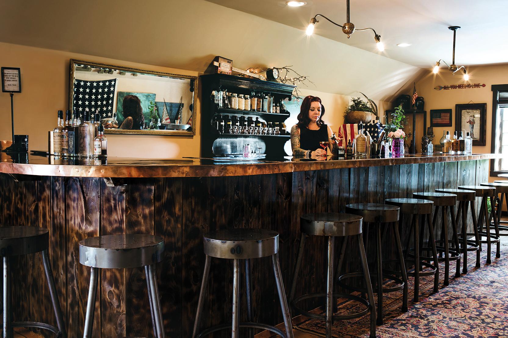The Indian Creek Distilling bar