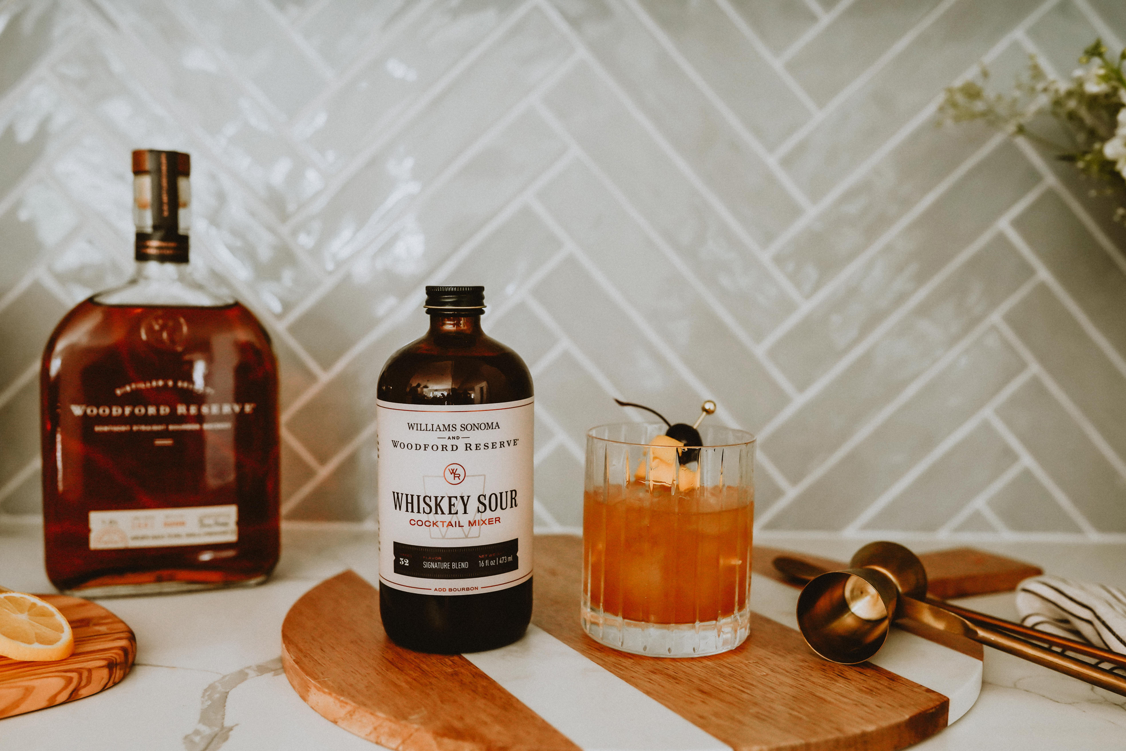 Woodford Reserve's cocktail mixer whisky sour